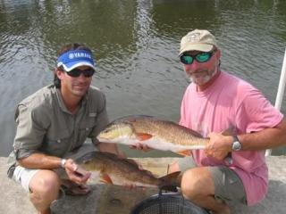 Bobby and Chris with Some Redfish