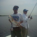 Redfish onboard with Captain Dave